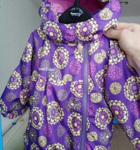 Куртка для девочки р.74-80+ шапочка