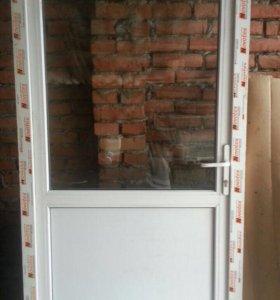 Пластиковая дверь 2,1х1,0