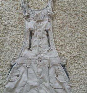 Джинсовый комбинезон юбка