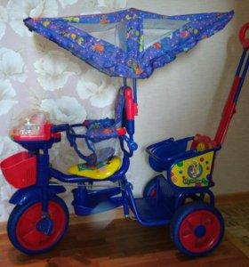 Детский двухместный велосипед