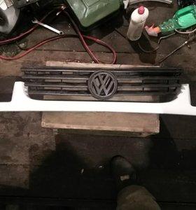 Решетка радиатора пассат б4 с накладкой под фары