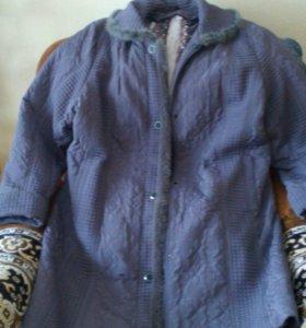 Пальто с подкдадом, новое, на весенний и зимний се