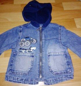 Куртка джинсовая, 86см