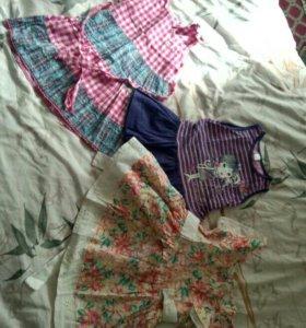 Летние платья на 1-2 года