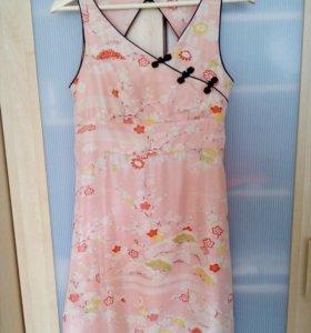 Платье fornarina 100% шёлк 42-44