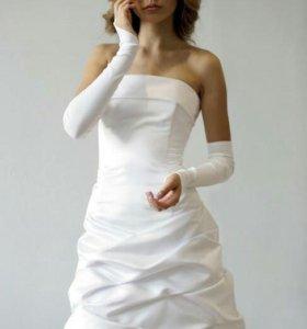 Короткое свадебное платье (или на выпускной)