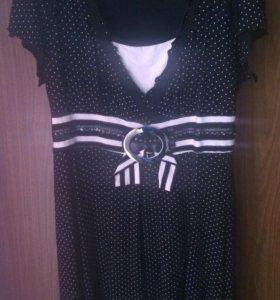 Трикотажное платье 48-50 р б /у