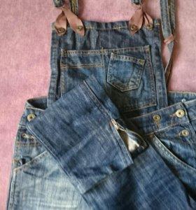 Комбинезон джинсовый 26 размер