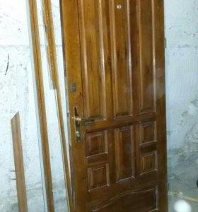 Дверь с короб. дерев. Б/у 207/89