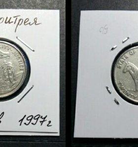 Монета 25 центов, 1997 год, Эритрея