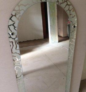 Зеркало с рамкой пескоструя