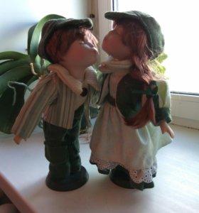 Кукла керамическая декоративная