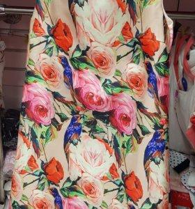 Платье с розами.