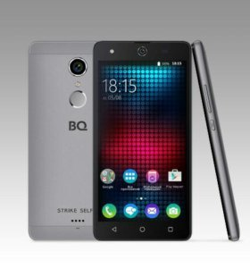 "Смартфон 5"" BQ BQS-5050 Strike Selfie Grey Новый"