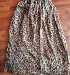 Легкая шифоновая юбка в пол