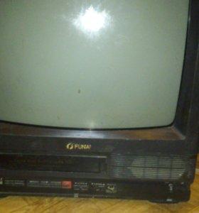 Телевизор в месте с видео