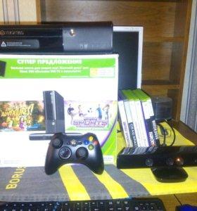 Xbox360E (500GB+4GB),kinect.