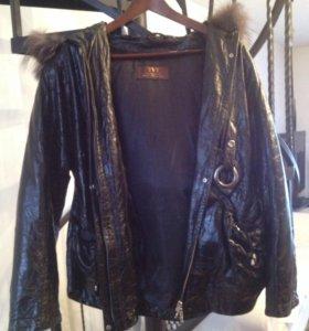 Кожаная куртка с подкладкой из натурального меха