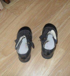 Ботинки синего цвета
