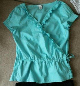 Блузка как новая на завязочках H&M