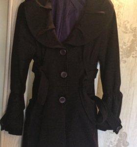 Демисезонное пальто шерсть акрил Италия