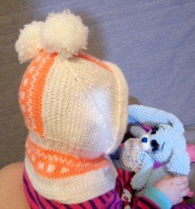 Шапка шлем детская весна