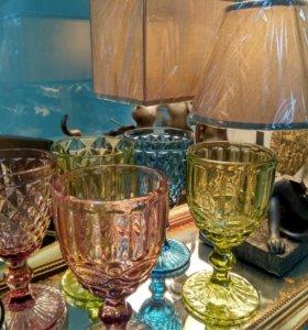 Бокалы из цветного стекла