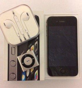 iPhone 4s, наушники EarPods, iPod shuffle