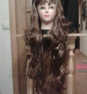 Парик коричневый, 85 см