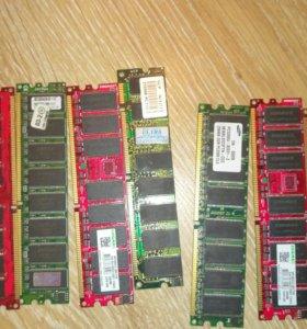 Планки памяти Ddr 256 и 512