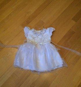 Платье для девочки на 1-1,5 года