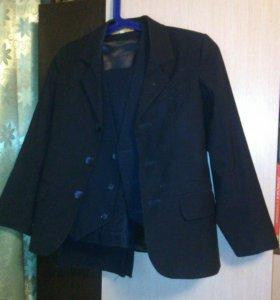 Пиджак+ жилетка школьный