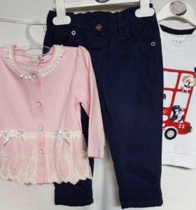 Кофточка, брюки и кофта р. 86