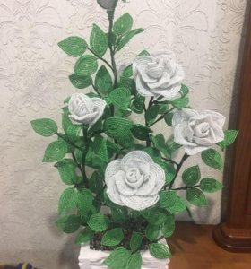 Розы из бисера ❤