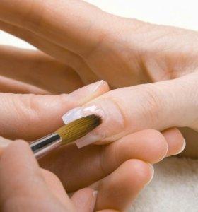 Наращивание ногтей учеба