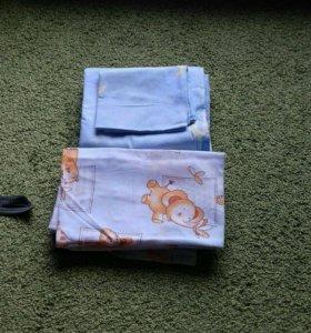 2 комплекта постельного белья в детскую кроватку