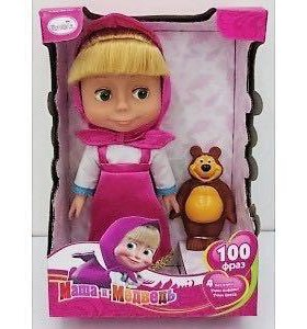 Новая интерактивная кукла Маша с медведем