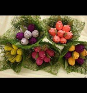 Цветы из конфет на заказ
