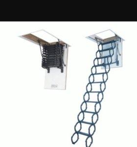 Металлическая термо лестница fakro LST 70x80