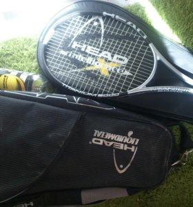 Ракетка теннисная, мячи и сумка