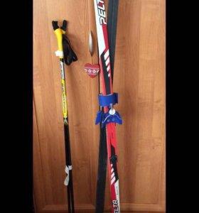 Лыжи,палки,ботинки