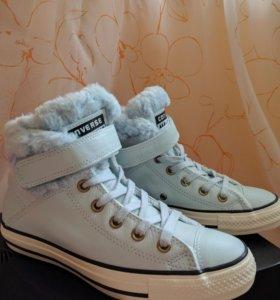 Кеды кожаные Converse зимние 36.5 оригинал, новые