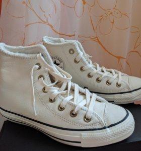 Кеды кожаные Converse зимние 37.5 оригинал, новые