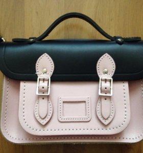 Кожаная сумка cambridge satchel
