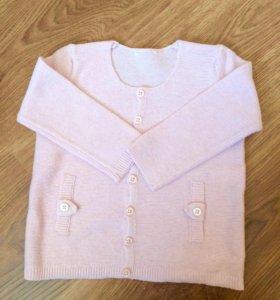 Новая нежно-розовая кофточка, 74 размер