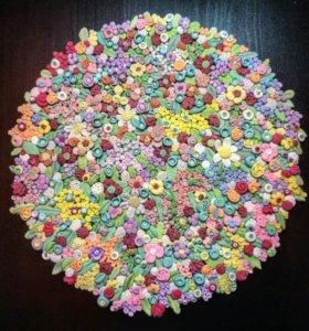 """Салфетка""-подставка, пластика, handmade"