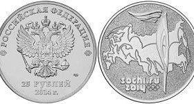 Монеты олимпиады 2014