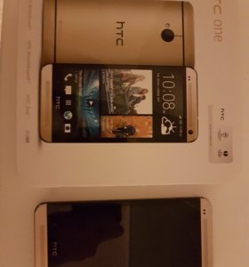 Смартфон HTC One gold