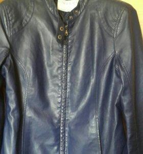 Куртка кожа CALLIOPE цвет синий