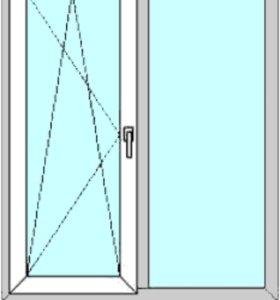 Окна ПВХ (2шт)
